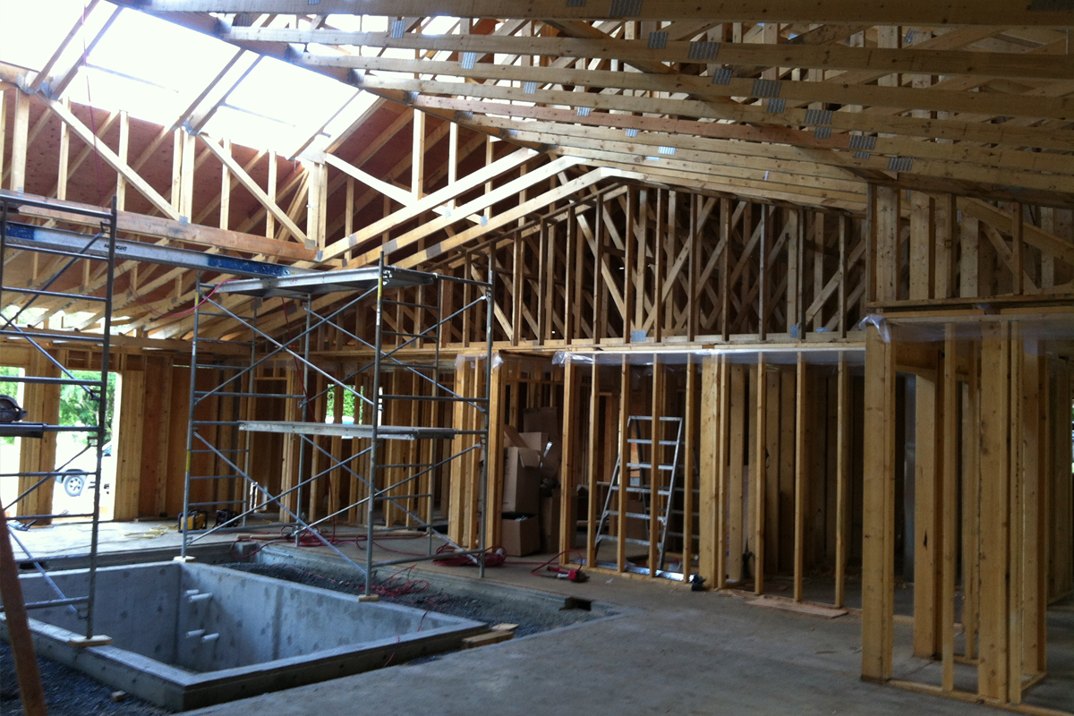 Kearcher Projects & Construction Ltd. - Construction Framing Example.